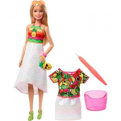 Barbie Crayola Rainbow Fruit Surprise Doll & Fashions (GBK18) Toys for Kids Girls Boys