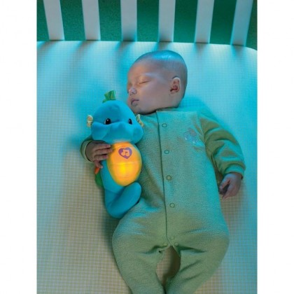 Fisher Price Soothe and Glow Seahorse Blue Soothing Music and Sounds Electronics Toys for Baby Infant Newborn Kids Boys Girls