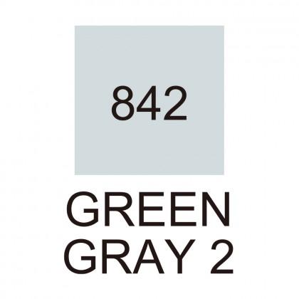 Kuretake ZIG Cartoonist Kurecolor Fine & Brush for Manga 842 Green Gray 2 - CNKC-2200/842