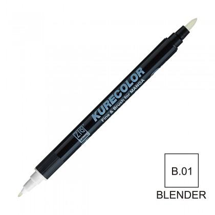 ZIG Cartoonist Kurecolor Fine & Brush for Manga B.01 Blender