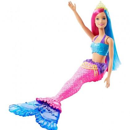 Barbie Dreamtopia Mermaid Doll, 12-inch, Pink and Blue Hair (GJK07)