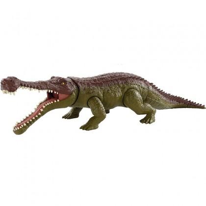 Jurassic World Massive Biters Sarcosuchus Larger-Sized Dinosaur Action Figure (GJP32)