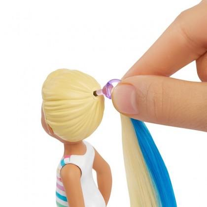 Barbie Color Reveal Chelsea Doll with 6 Surprises Including detachable Ponytail (GPH09)