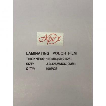 Apex Laminating Film A2 100 PCS 100 Micron 426x600mm Premiun Quality