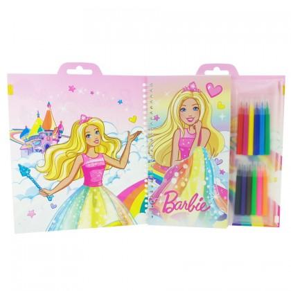 Barbie 32 pcs Colouring Set Jumbo Fun Set