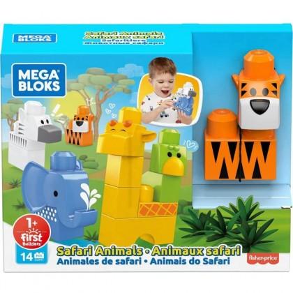 Mega Bloks First Builders Safari Animals Playset