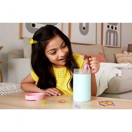 Barbie Chelsea Color Reveal Doll with 6 Surprises, Sand & Sun Series (GTT25)