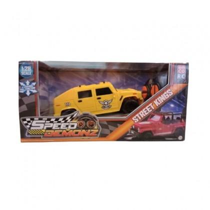 EMCO Speed Demonz Street Kings Mini RC Yellow Kids Toys