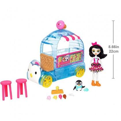 Enchantimals Wheel Frozen Treats Preena Penguin Doll & Playset
